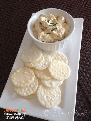 ThermoFun - French Onion Dip with Cream Cheese Recipe