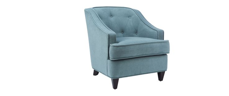 """Desi Fabric: High Cotton Jade  No toss or kidney pillows included  CHAIR (as shown) Length (overall) 31"""" Length (inside) 23"""" Depth (overall) 36"""" Depth (seat) 24"""" Height (overall) 33"""" Height (arm) 23"""" Height (seat) 18"""""""