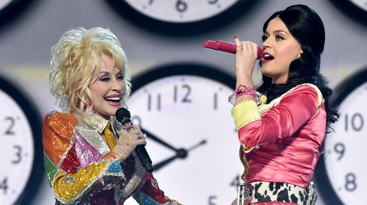 See Dolly Parton and Katy Perry's Colorful ACM Awards Duet #headphones #music #headphones
