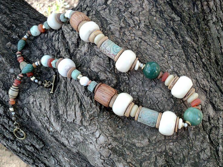 Купить Ожерелье Уходящая натура - авторские украшения, авторские бусы, авторское украшение, авторское колье