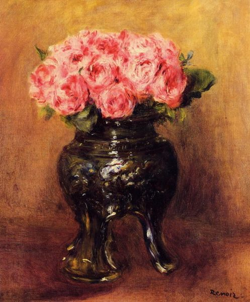 Roses in a China Vase  -  1876. Пьер Огюст Ренуар - Pierre-Auguste Renoir (1841-1919)