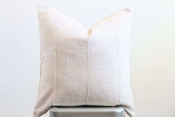mudcloth pillow solid