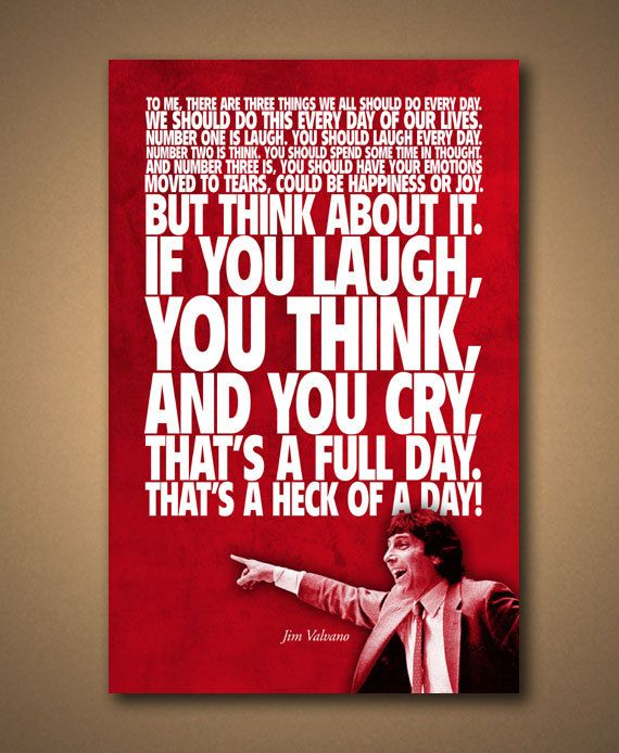 Coach Jim Valvano INSPIRATIONAL Quote Poster by ManCaveSportsSigns