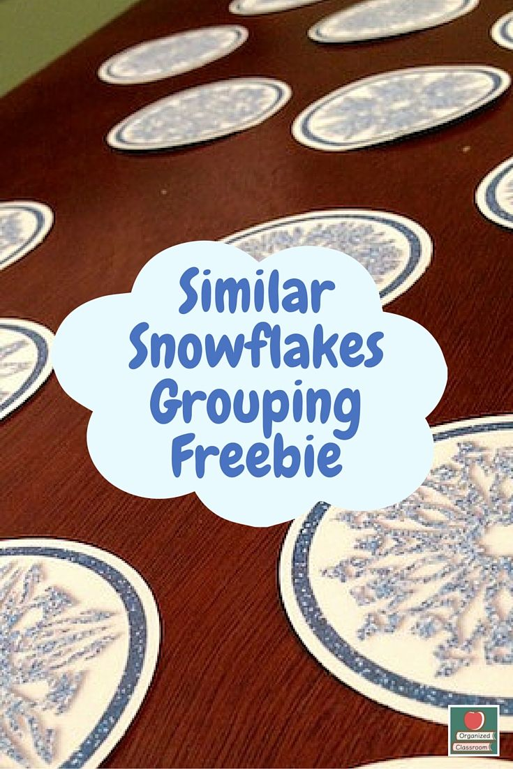 Easy grouping! Print and then give the students a few minutes to group up into pairs/small groups by matching their snowflakes!