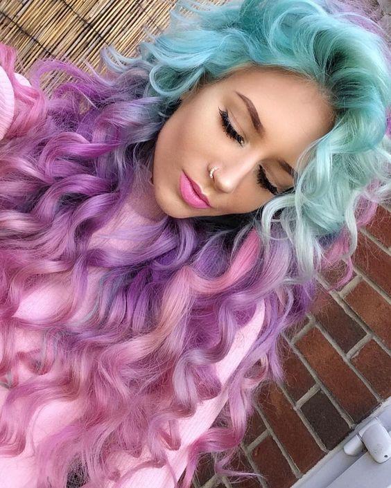 @evatornado blue and purple hair color