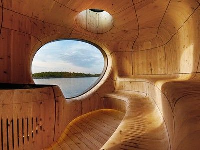 Timber Work - This prefab sauna is absolutely extraordinary on so many levels.