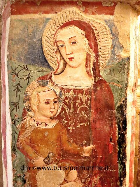 Offida: Church of S. Maria della Rocca: Medieval frescoes. Marche, Italy