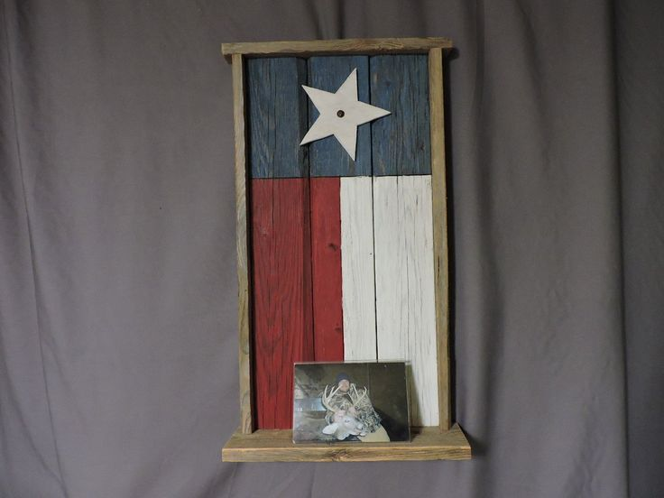 Fence Wood Texas Flag Bulletin Board with Shelf. Made from old fence wood we replenish and recycle to make man cave decor.