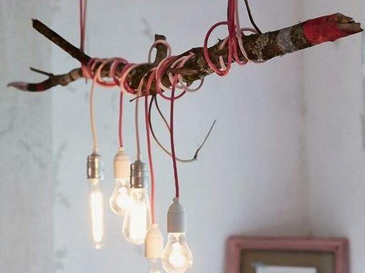 Pi u00f9 di 25 fantastiche idee su Lampadario Fai Da Te su Pinterest   Vasi rustici in muratura     -> Lampadario Ombrello Fai Da Te