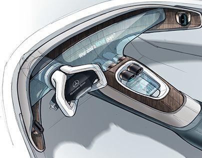 Mercedes interior doodles