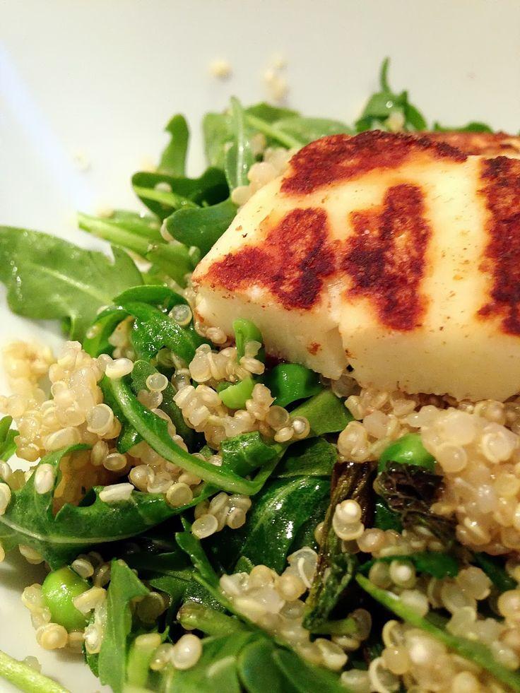 the digital iris: Quinoa & Halloumi Salad