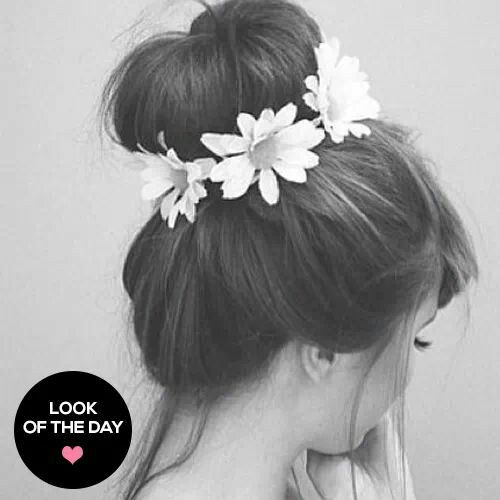 Easy style, blowdry hair with volume booster, then put in a high ponytail then use a hair donut pin excess hair up with bobbypins, pull a few hairs out from around the hair line to soften the look, finally give it s little spray and your done.