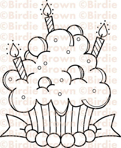 Digital stamp -- Cupcake - Candy. $2.50, via Etsy.  Great Digital Stamps