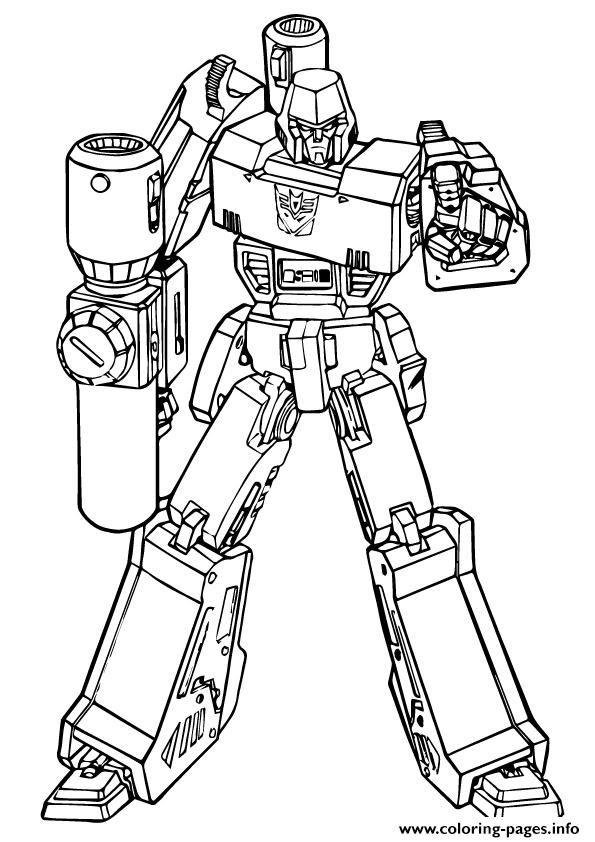 megatron transformers coloring pages   Print transformers Putting down the Gun a4 coloring pages ...