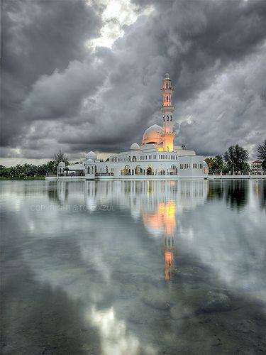 a light in the monsoon, mosque, Terengganu, Malaysia