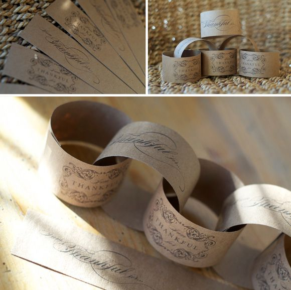 The 'Thank You' Project: Thanks Giving Paper Chain