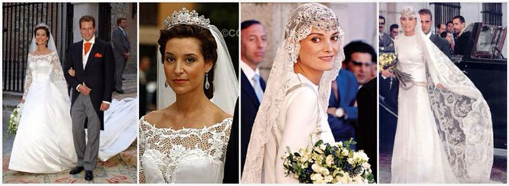 Barbara / left and Laura on right - daughter in laws of Infanta Pilar