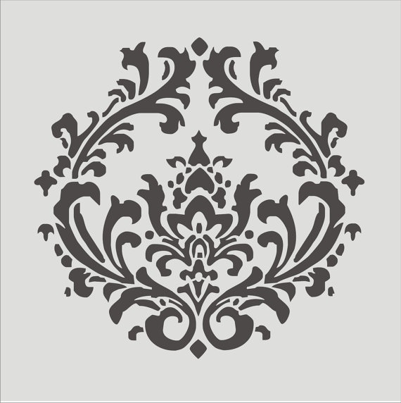 Stencil Damask pattern 43 Flourish Wall stencil ....Love this..possibly for my bedroom