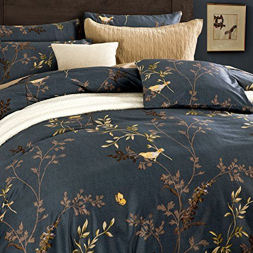 Deep Sleep Home 100% Staple Cotton Sateen 300 Thread Count Percale Delicate Yellow Bird Butterfly Leaves Printing Design Warm Feeling 3pc Duvet Cover Set Mild Ink Color Full/Queen Size(Queen, Andy-ED) Deep Sleep Home http://www.amazon.com/dp/B0185WE5I2/ref=cm_sw_r_pi_dp_v1.axb1BJGZ08