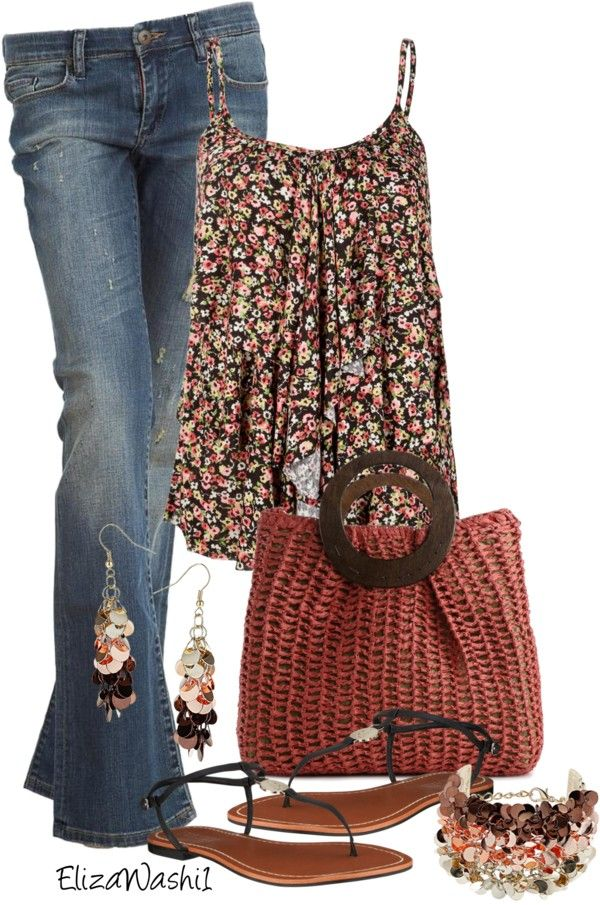 Shorts instead of jeans would make this a super cute summer outfit.
