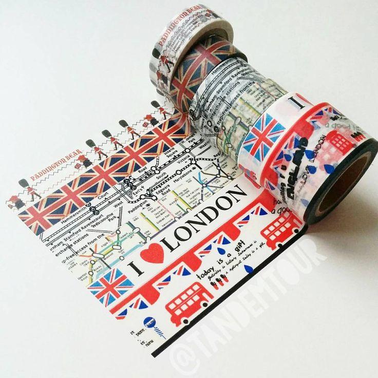 Love these London washi tape rolls!