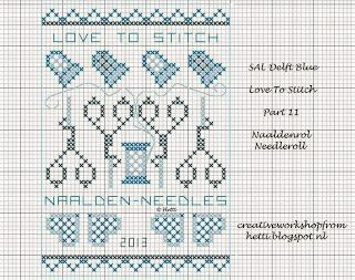 SAL Delft Blue  Love To Stitch Part 11 with Needleroll