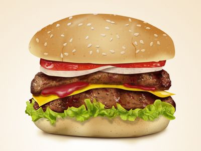 Download Free Hamburger PSD Icon