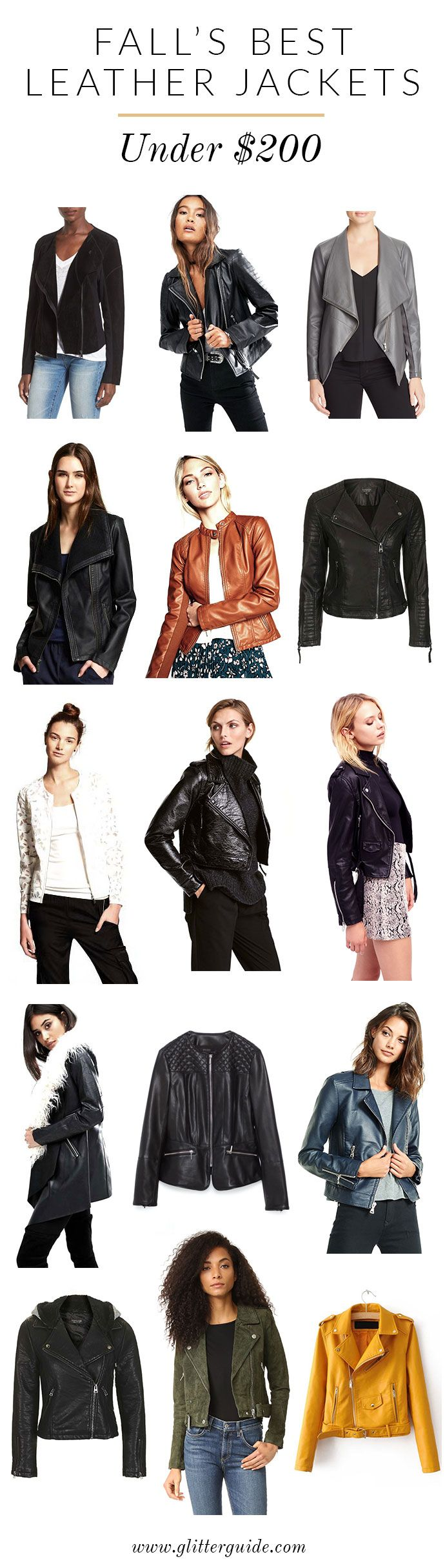 Leather jacket under 100 - Fall S Best Leather Jackets Under 200