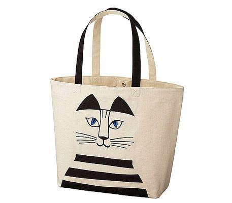 Lisa Larson retro-style tote bags at Uniqlo