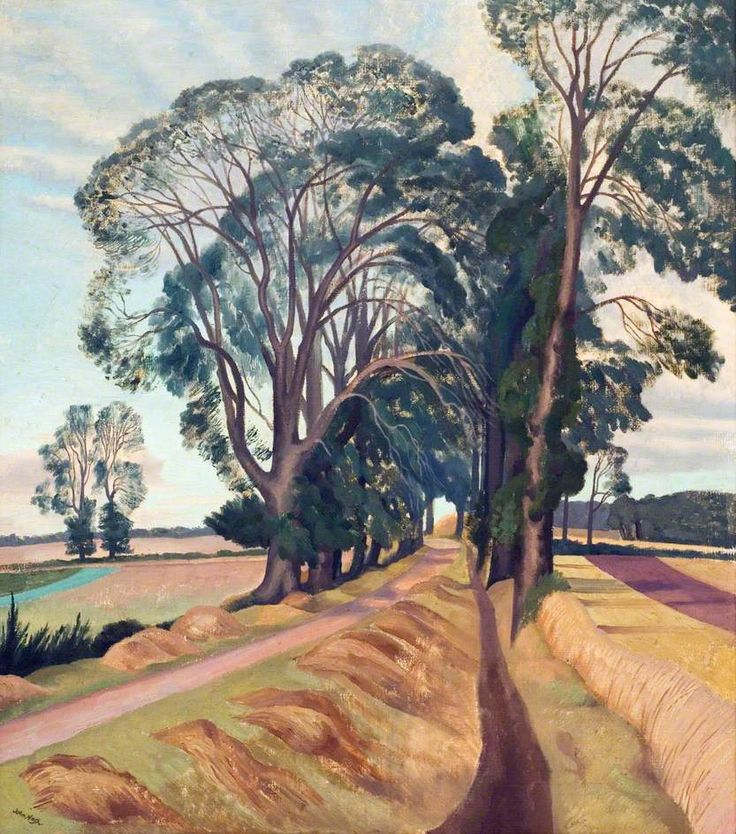 An Avenue of Elms  ......   . JOHN NASH  .....     British painter of landscapes  ... 4/11/1893 - 9/23/1977