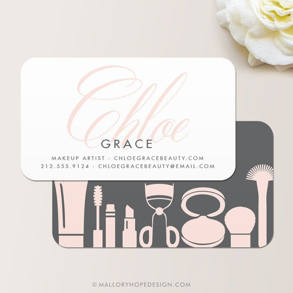 Grace Makeup Artist or Cosmetologist Business Card / Calling