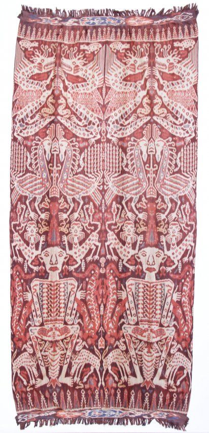 "Sumba Ikat, Indonesia, circa 1900. Size: 52"" x 112"" (132 x 284 cm). Provenance: From the private estate of Gloria Davis - anthropologist, te..."