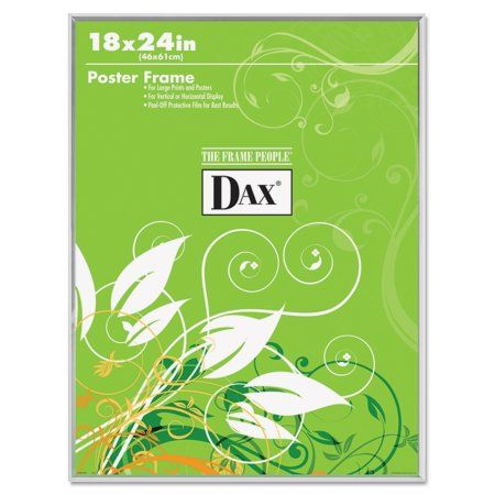 DAX U-Channel Poster Frame, Contemporary Clear Plastic Window, 18 x 24, Clear Border