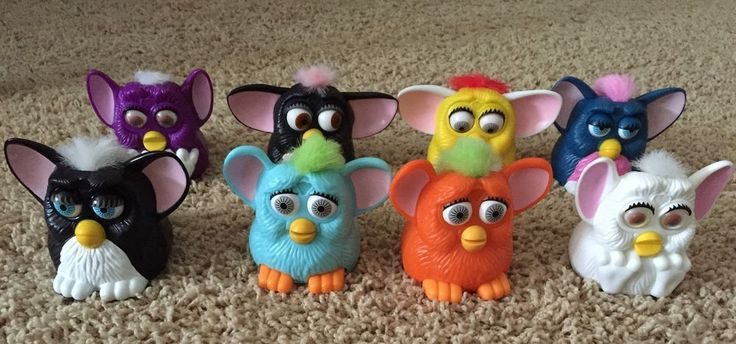 McDonalds FURBY Toys 1998 - Fast Food Happy Meal Premiums Lot 8 #McDonalds