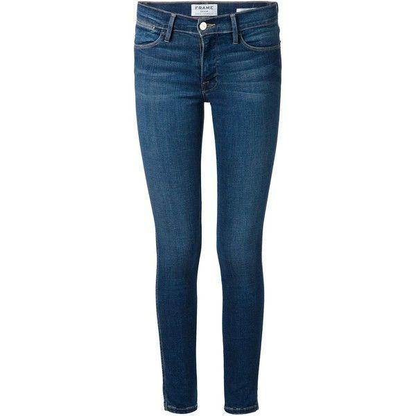 Frame Denim 'Jeanne Le' skinny jeans ($305) ❤ liked on Polyvore