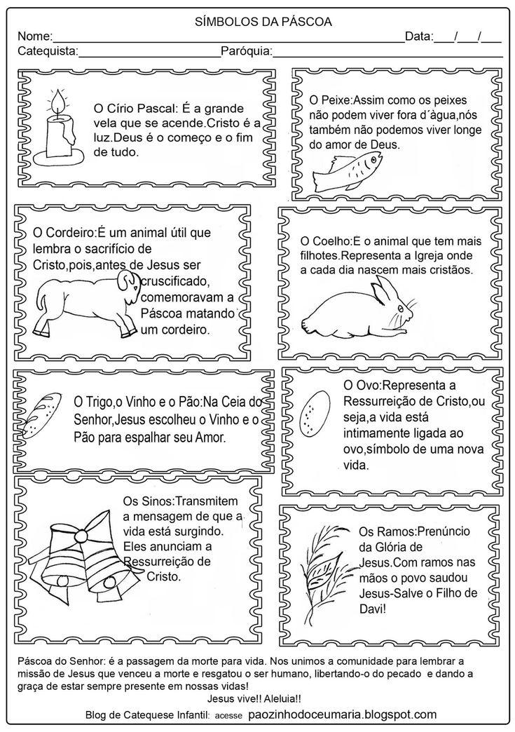 Aqui estão alguns símbolos da Páscoa e uma atividade para criança, espero que gostem!!  Tudo foi feito para Honra e Glória do Senhor Jesus!!...