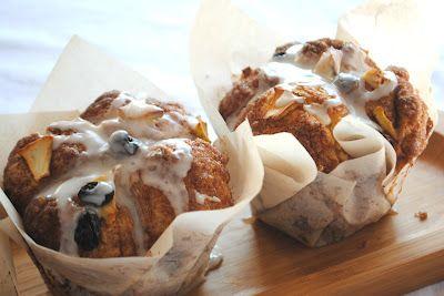 Apple Raisin Cobblestone Muffins (like Panera)