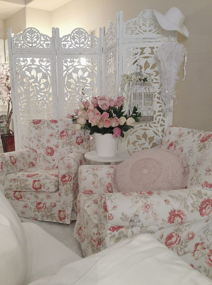 A Photo Of A Vintage Living Area...Small And Cozy In Size But Definitely Big In Shabby Chicness! By Vintage Shabby Pink! On Tumbl'r. ~Love
