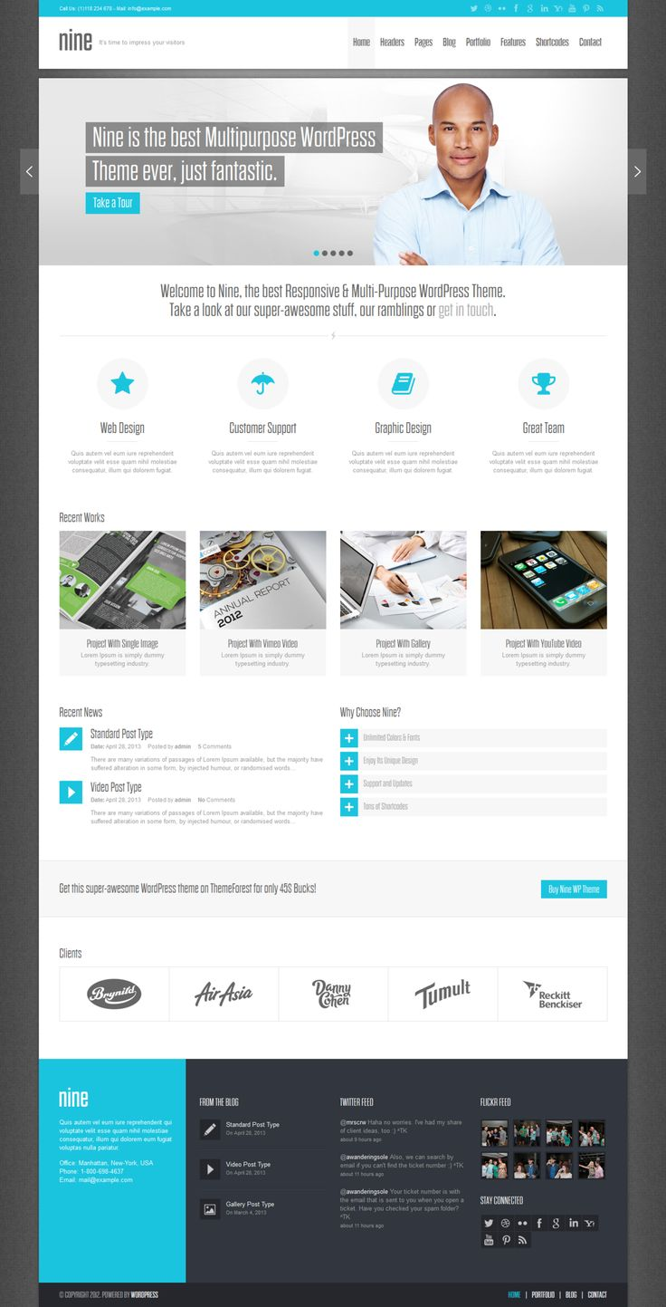 Multi-Purpose WP Theme by ~wpthemes on deviantART