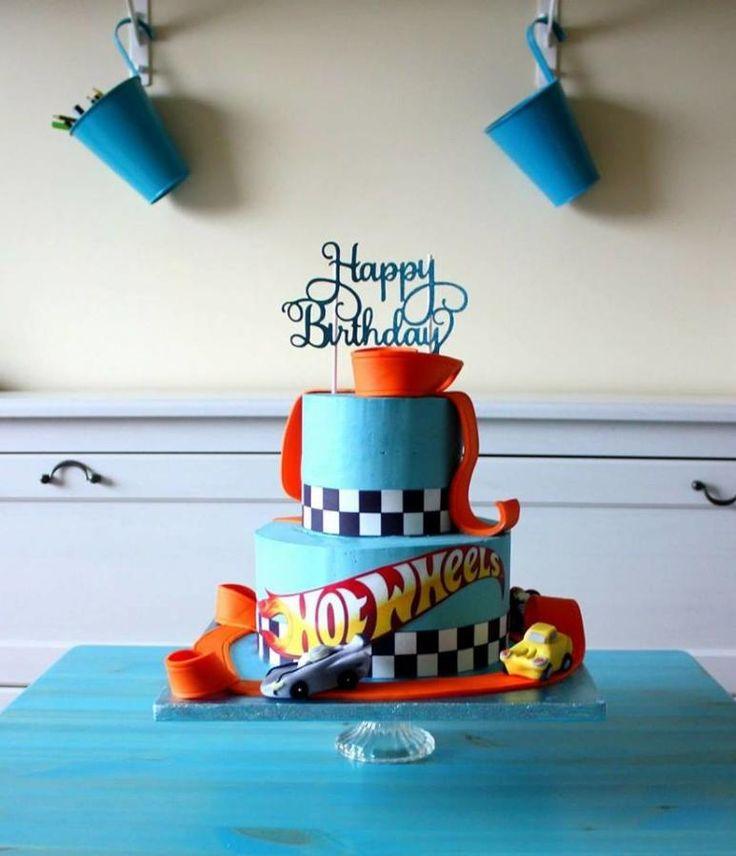 Hot Wheels cream cake by Anastasia Krylova