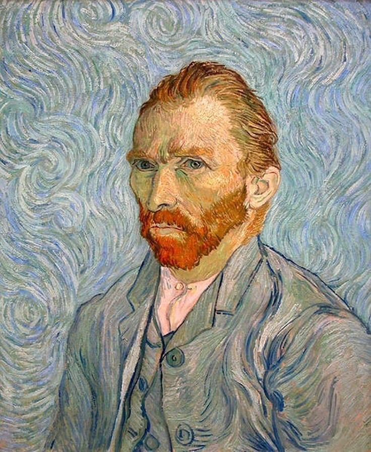 Автопортрет, 1889 год. Винсент Ван Гог прожил 37 лет, из которых писал только последние десять. Унылое детство, юность, посвященная службе в арт-дилерской фирме собственного дяди,— работа, не приносившая ни достатка, ни удовольствия. Потом внезапный порыв к христианству в форме евангельского служения ближнему, испугавший его родню своей крайностью. Только после этого он обратился к живописи, затем, после нескольких лет первых опытов, уехал во Францию. Хрестоматийная богемная жизнь…