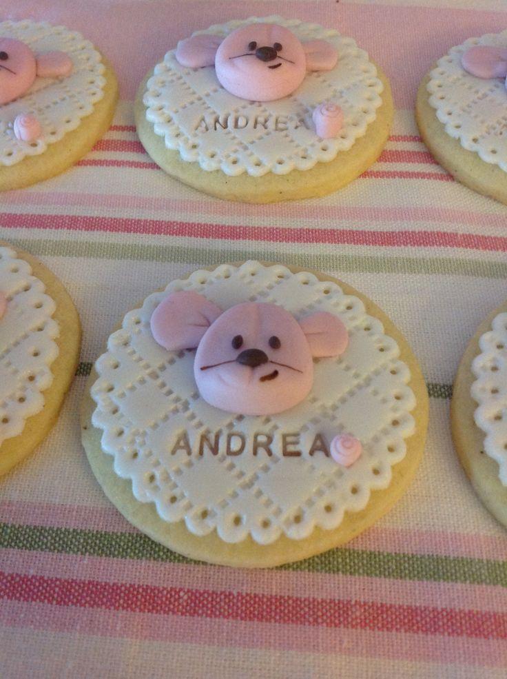 Kiconico fondant cookies.