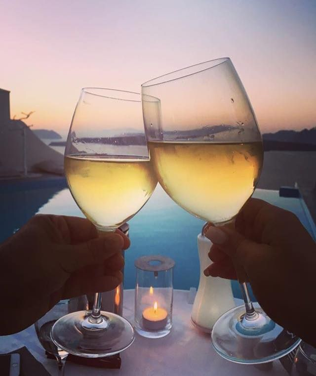 Cheers to life at #AstarteSuites!  #Santorini