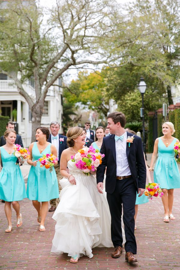Preppy Charleston Wedding By Dana Cubbage Navy Bridal Partieswedding