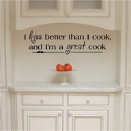 <3: Wall Art, Cute Kitchens Quotes, Dreams, Kitchens Signs, Wall Sayings, Vinyls Letters, Kitchens Ideas, Kiss Better, Quotes Art