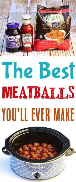 Easy Crockpot Meatballs Recipes! This sweet and savory appetizer is just 3 ingredients!