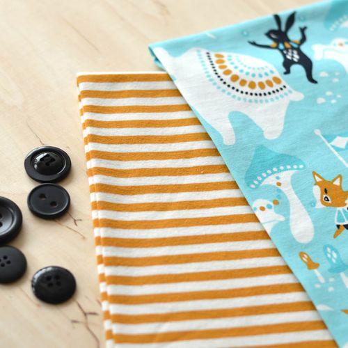 NOSH Organics Fabrics - SIRKUS, Turquoise