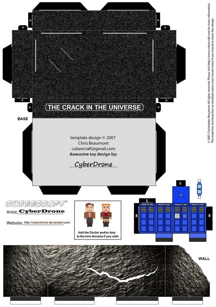CUBEECRAFT DOCTOR WHO   Cubee - Dr Who Mini Diorama by CyberDrone on deviantART