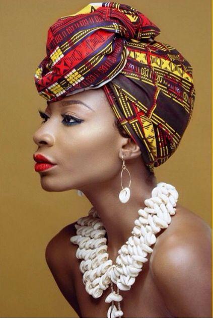 Gélé attaché foulard headwrap turban aso oké
