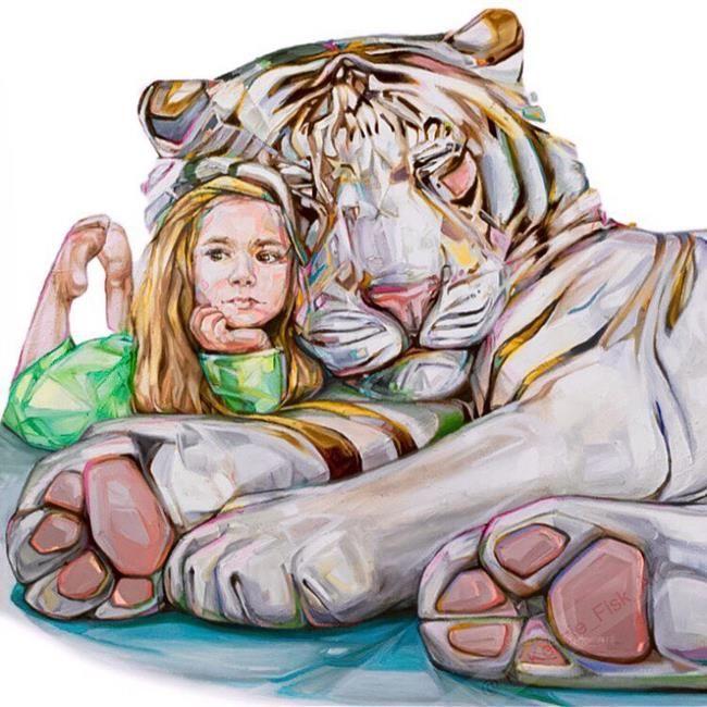 Sanatlı Bi Blog Çocuklar ve Hayvanları Aynı Karede Resmeden Sanatçıdan 17 Sevimli Çalışma 19